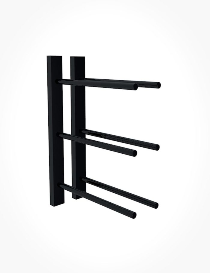 Straight PEG Rail 1FT Black
