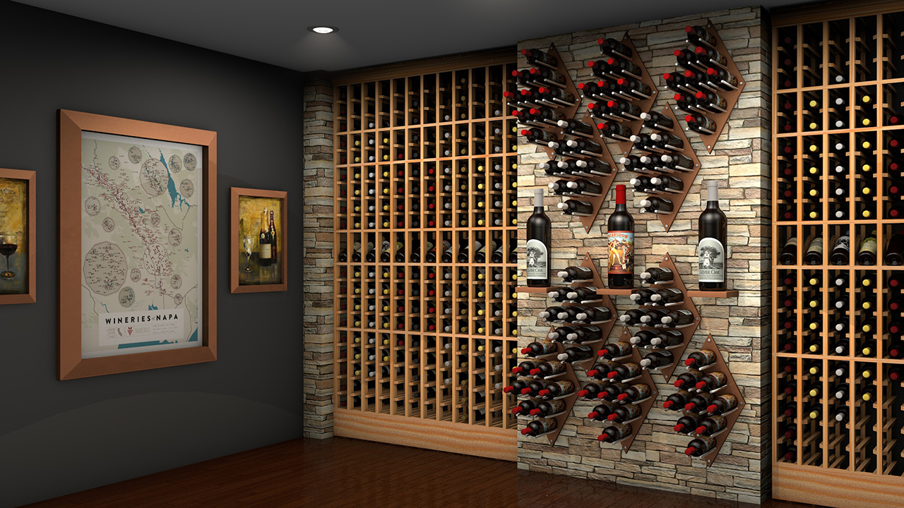 Modern Wall Mounted Wine Racking Systems